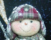 CF205 Chilly Willy - PDF Snowman Cloth Doll Pattern