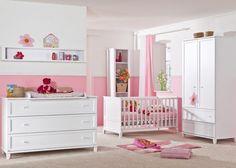 Decoración para niña en blanco y rosa