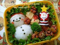 Easy Snowman Christmas Bento Box Recipe