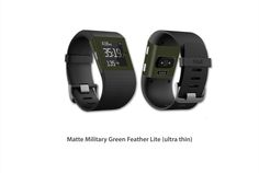 https://flic.kr/p/zMBdsm | Matte Military Green Feather Lite | Fitbit Surge skin kit series Feather Lite! Now available for purchase!!  Click on the link below to make your purchase: www.stickerboy.net/pages/fitbit-surge-skins-skin-series