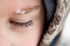 snowflakes on lashes