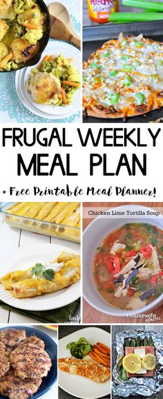 Frugal Weekly Meal Plan 8 - Easy meal ideas to get dinner on the table!