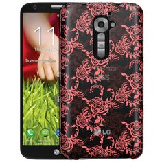 LG Verizon G2 Coral Tea Roses Clear Case