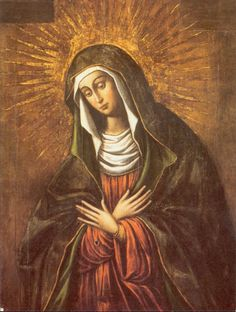 """Our Lady of Mercy. Pray for us sinners now and at the hour of our death. """"Our Lady of Ostra Brama"""" (Our Lady of Mercy) is the patroness of the Marian Province in the United States. Blessed Mother Mary, Blessed Virgin Mary, Religious Pictures, Religious Art, Religious Paintings, Year Of Mercy, Gospel Of Luke, Immaculate Conception, Holy Mary"""