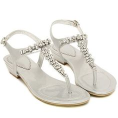 Faux Leather Upper Flat Sandals 031825