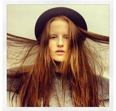 redhead // long hair // bowler hat