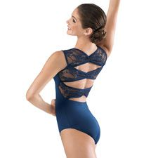 Floral Lace Pinch Back Tank Leotard; Balera http://www.dancewearsolutions.com/dancewear/leotards/MT3901.aspx