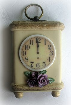 *POLYMER CLAY ~ It's Time by Liat R, via Flickr.