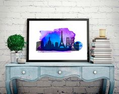 Hey, I found this really awesome Etsy listing at https://www.etsy.com/listing/260845791/paris-poster-watercolor-poster-city