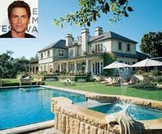 Rob Lowe's house and swimming pool. Hope Someday I can build this!