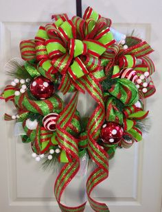 Christmas Mesh Wreath by WilliamsFloral on Etsy, $89.00