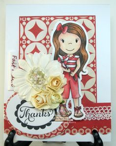 Pinwheel Ellie, DT Project for The Paper Nest Dolls, June 2015, created by Leah Tees, odetopaper.blogspot.ca