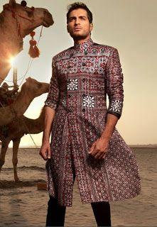 Arsalan & Yahseer cultural sindhi Ajrak Coat and sherwani Collection 2012-13 | Stylish Sindh Fashion for male | Pakistani Men's Fashion | Pakistani Actress