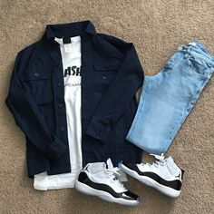 Picture could comprise: footwear Teen Swag Outfits, Dope Outfits For Guys, Stylish Mens Outfits, Tomboy Outfits, Mode Outfits, Girl Outfits, Hype Clothing, Mens Clothing Styles, Black Men Street Fashion