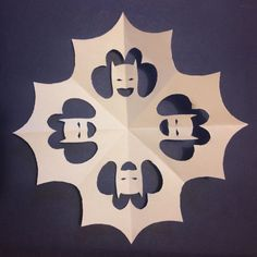 We found tons of cool snowflake pattern for a fun, easy holiday craft project. Kirigami, Holiday Crafts, Holiday Fun, Holiday Decorations, Panda Decorations, Kids Crafts, Make Your Own Superhero, Snowflake Template, Paper Art