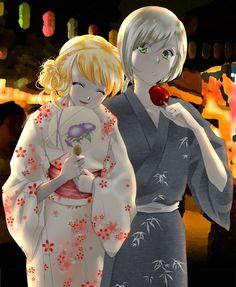Summer Festival by uraasa  Mina and Yaten