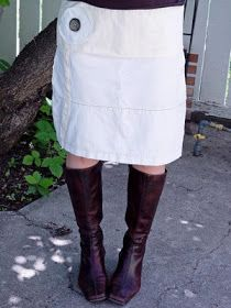 THE SEWING DORK: Jeans to Bleached Denim Skirt