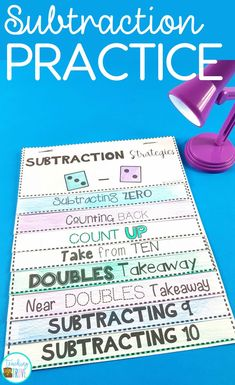 Teach your students subtraction strategies.