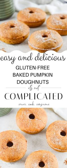 These Gluten-Free Baked Pumpkin Doughnuts are a revelation and certain to become as popular in your household as they are in mine. They have a lovely light texture, the perfect amount of spice and just the right amount of sweetness. However, they are baked and consequently are far healthier than their deep-fried relatives.#bakedpumpkindoughnuts #pumpkindonuts #pumpkindoughnuts #bakedpumpkindonuts #glutenfreedoughnuts #glutenfreedonuts #cravecookconsume #itsnotcomplicatedrecipes