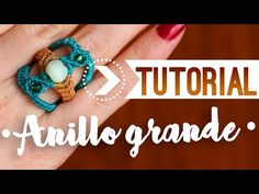 Anillo grande / ♥︎ Tutoriales de macramé - YouTube