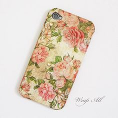 Vintage Pink Roses iPhone 6 case / iPhone 5 case / by WrapAll