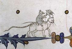 Ladyhawke or rat falconerPontifical of Guillaume Durand, Avignon, before 1390. Paris, Bibliothèque Sainte-Geneviève, ms. 143, fol. 76v