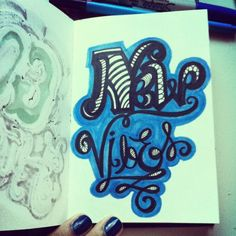 New vibes! #lettering #letteringdaily #doodle #type  #picfx - @magicmaia- #webstagram