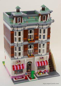 Lego Sweet Shop modular building MOC by Super-Junk