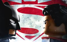 As if dropping the Lego Batman Movie trailer yesterday wasn't enough, the toy brickmeisters are piling it on to mark the release of Batman v Superman: Dawn of Justice. Lego Batman Movie, Batman Vs Superman, Batman Arkham, Spiderman, Superhero Stories, My Superhero, Superman Wallpaper, Superman Dawn Of Justice, Hooray For Hollywood