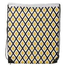 Diamond Patterns Cinch Bags