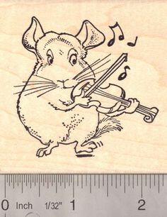 Chinchilla Playing an Irish Jig on the Violin Musical Rubber Stamp >>> To view further for this item, visit the image link.