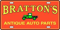 Brattons Antique Auto Parts - Model A Ford Parts.