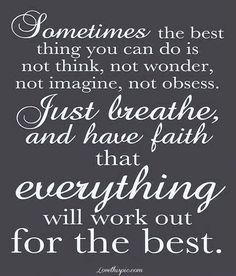 Sometimes the best thing you can do...