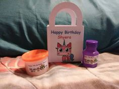 UNIKITTY Birthday party favor set of 8 personalized goody bags, bubbles and dough Girls Lego Party, Lego Girls, Birthday Party Favors, Birthday Parties, Happy Birthday, Goody Bags, Personalized Favors, Favor Boxes, All The Colors