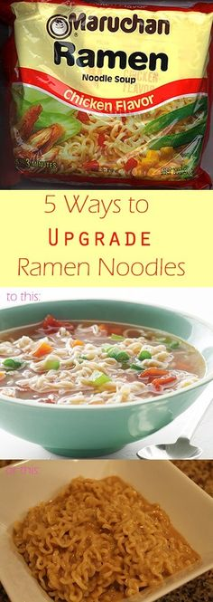 Ramen noodles are considered a staple food for college kids. By using a few simple ingredients, you can turn these microwaveable noodles into dinner. noodle recipe college 5 Ways to Upgrade Your Ramen Noodles - Top Ramen Recipes, Ramen Noodle Recipes, Raman Recipes, Beans Recipes, Soup Recipes, Cake Recipes, Roman Noodles, Zuchinni Noodles, Recipes