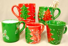 Country Love Crafts - Painting Pottery Christmas Bisque Shapes