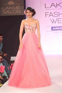 Anushree Reddy Perfect for a spring wedding! Floral with pastel pink. LOVE IT