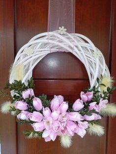 jarní Easter Wreaths, Holiday Wreaths, Christmas Decorations, Vine Wreath, Summer Wreath, Spring Wreaths, Wreath Crafts, How To Make Wreaths, Spring Crafts