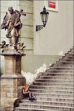 On the Streets - Prague Radnich'e Schody by Mark (Doc) Doran on 500px