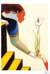 Femme à la fleur par Lorenzo Mattotti
