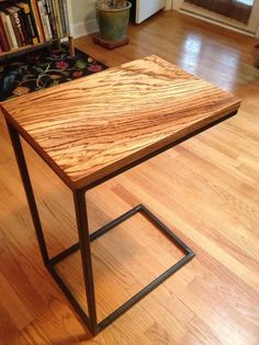 These c-tables are built with large slabs of African zebrawood. They're great for eating away from the table, and make beautiful side tables when not … How To Clean Furniture, Steel Furniture, Furniture Sale, Custom Furniture, Furniture Buyers, Furniture Cleaning, Industrial Furniture, Discount Furniture, Furniture Design