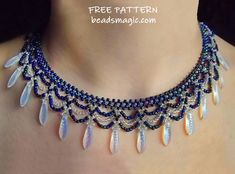 beading patterns free Free pattern for necklace Elsa Diy Shamballa Armband, Beaded Beads, Beaded Necklace Patterns, Making Bracelets With Beads, Jewelry Making, Beaded Bracelets, Seed Bead Necklace, Seed Bead Jewelry, Handmade Jewelry