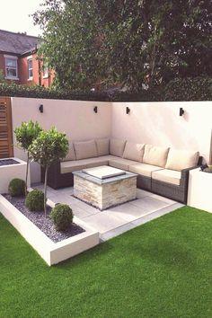 46 popular modern front yard landscaping ideas 6 - All For Garden Backyard Seating, Backyard Patio Designs, Small Backyard Landscaping, Landscaping Ideas, Backyard Ideas, Patio Ideas, Backyard Layout, Backyard Fences, Garden Seating