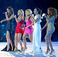 Spice Girls performing at the Olympics 2012 Closing Ceremony