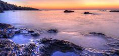 Cala Cristal - Amanecer en la cala cristal en la costa de Almería Andalucía España