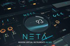 NETA: Modern virtual instrument UI by TITO on @creativemarket