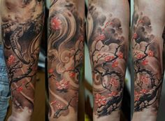 Cherry Blossom in Storm Tattoo