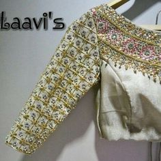 End to End Customization with Hand Embroidery & beautiful Zardosi Art by Expert & Experienced Artist That reflect in Blouse , Lehenga & Sarees Designer creativity that will sunshine You & your Party. Blouse Patterns, Saree Blouse Designs, Blouse Styles, Indian Blouse, Indian Wear, Saris, Maggam Work Designs, Collor, Bollywood