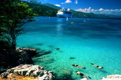 Snorkeling, Labadee Island, Caribbean ~ there is something about beautiful clear water to swim in.