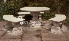 #Garden #stone #benches and #tables are realized in classical or contemporary styles in any form and dimensions.Stone benches and table